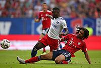 15.08.2018, Football  2018/2019, pre season friendly, Hamburger SV - FC Bayern Muenchen, Volksparkstadium Hamburg.  Stephan Ambrosius (Hamburg)  -  and Joshua Zirkee (Bayern Muenchen)  *** Local Caption *** © pixathlon