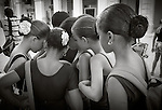Havana, Cuba: Young dancers gather after class