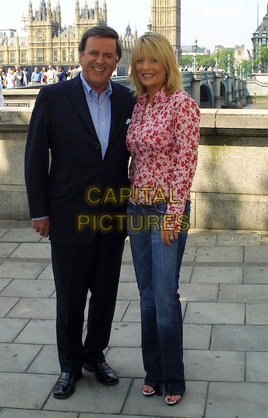 TERRY WOGAN & GABY ROSLIN.attend photocall to mark the beginning of their new daily programme on Channel Five, The Terry & Gaby Show.www.capitalpictures.com.sales@capitalpictures.com.© Capital Pictures.