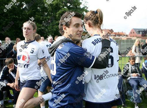 2010-05-30 / Seizoen 2009-2010 / Korfbal / Teleurstelling bij de spelers van Boeckenberg ..Foto: mpics