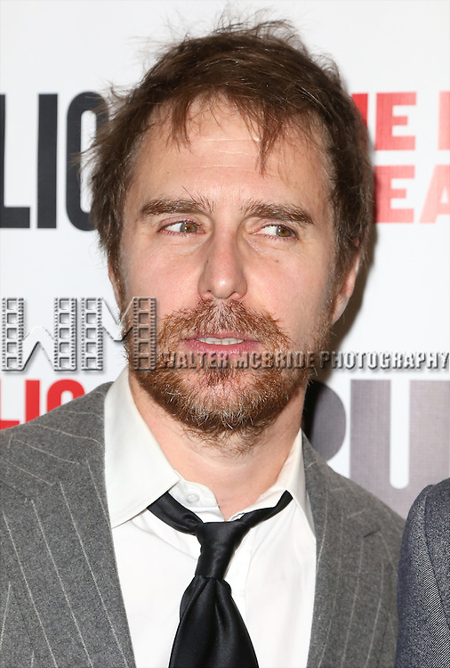 Sam Rockwell attends the Opening Night Celebration of 'Grounded' at the The Public Theatre on April 24, 2015 in New York City.