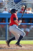 State College Spikes outfielder Kyle Saukko (19) during a game vs. the Batavia Muckdogs at Dwyer Stadium in Batavia, New York August 29, 2010.   Batavia defeated State College 6-4.  Photo By Mike Janes/Four Seam Images