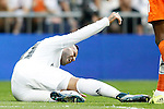 Real Madrid's Jese Rodriguez injured during La Liga match. September 26,2015. (ALTERPHOTOS/Acero)