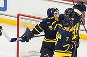Collin Delia (Merrimack - 1), Derek Petti (Merrimack - 10) - The visiting Merrimack College Warriors defeated the Boston College Eagles 6 - 3 (EN) on Friday, February 10, 2017, at Kelley Rink in Conte Forum in Chestnut Hill, Massachusetts.