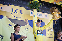 Chris Froome (GBR/SKY) is the new overall leader after stage 3<br /> <br /> stage 3: Antwerpen (BEL) - Huy (BEL)<br /> 2015 Tour de France