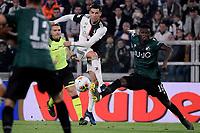 Cristiano Ronaldo of Juventus , Ibrahima Mbaye of Bologna FC  <br /> Torino 19/10/2019 Allianz Stadium <br /> Football Serie A 2019/2020 <br /> Juventus FC - Bologna <br /> Photo Federico Tardito / Insidefoto