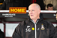 Bradford City manager Simon Grayson on the touchline at his first home game in charge during the Sky Bet League 1 match between Bradford City and Wigan Athletic at the Northern Commercial Stadium, Bradford, England on 14 March 2018. Photo by Thomas Gadd.