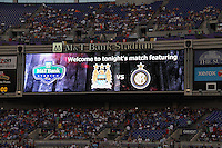 Stadium video screen during an international friendly match between Manchester City and Inter Milan on July 31 2010 at M&T Bank Stadium in Baltimore, Maryland. Milan won 3-0.