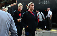 Carley Telford and Mille Bright arrive ahead of the Women's International friendly match between England Women and Australia at Ashton Gate, Bristol, England on 9 October 2018. Photo by Bradley Collyer / PRiME Media Images.