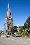 St Gerrans parish church, Roseland Peninsula, Cornwall, England, UK