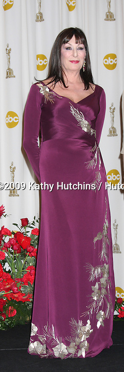 Anjelica Huston in the 81st Academy Awards Press Room at the Kodak Theater in Los Angeles, CA  on.February 22, 2009.©2009 Kathy Hutchins / Hutchins Photo...                .
