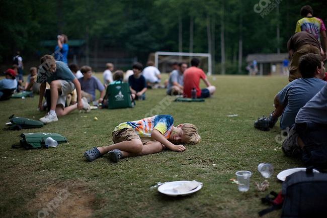 Campers at Falling Creek Boys Camp. Tuxedo, North Carolina, July 7, 2007
