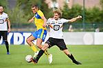 2018-07-11 / Voetbal / Seizoen 2018-2019 / Union Saint-Gilloise - KV Mechelen / Mathias Fixelles met Arjan Swinkels (r. KVM)<br /> <br /> ,Foto: Mpics
