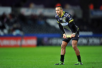 Eli Walker of the Ospreys looks on during a break in play. European Rugby Champions Cup match, between the Ospreys and Bordeaux Begles on December 12, 2015 at the Liberty Stadium in Swansea, Wales. Photo by: Patrick Khachfe / JMP