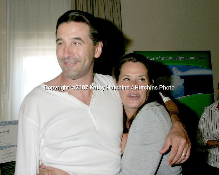 Lorraine Bracco & Billy Baldwin & her daughter.GBK Emmy Gifting Suite.Hollywood Roosevelt Hotel.Los Angeles,  CA.September 14, 2007.©2007 Kathy Hutchins / Hutchins Photo...