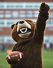 The Baldwin Bruins mascot waves during a Nassau County Conference I varsity football game against Oceanside at Baldwin High School on Saturday, Oct. 6, 2018.