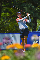 Azahara Munoz (ESP)  watches her tee shot on 13 during round 2 of the 2018 KPMG Women's PGA Championship, Kemper Lakes Golf Club, at Kildeer, Illinois, USA. 6/29/2018.<br /> Picture: Golffile | Ken Murray<br /> <br /> All photo usage must carry mandatory copyright credit (© Golffile | Ken Murray)