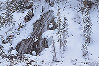 Waterfall in Maligne Canyon, Jasper National Park, Alberta, Canada