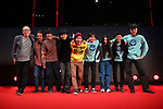 "Yoichi Sai, Manabu Hosoi, Kazuaki Nagaya, Shinichiro Osawa, Shinichiro Ueda, Issei Yamashita, Rina Tsugami, November 04, 2019 - The 32nd Tokyo International Film Festival, press conference of movie ""One Cut of the Dead"" in Tokyo, Japan on November 04, 2019. (Photo by 2019 TIFF/AFLO)"