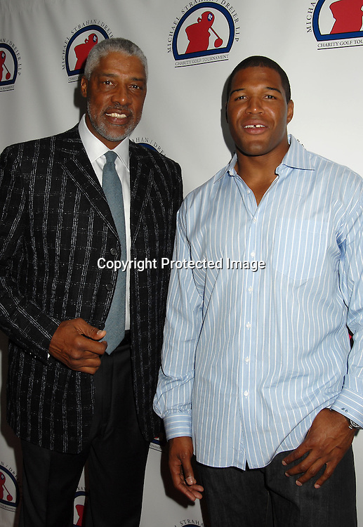 "Julius Erving and Michael Strahan..at The Kick-off Party for the Strahan/Dreier LLP Charity..Golf Tournament on July 9, 2006 at TAO. The tournament ..will benefit the ""Take The Field"" Charity and ""Student Sponsors Partners""...Robin Platzer, Twin Images"