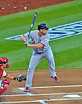 11 October 2012: St. Louis Cardinals left fielder Matt Holliday in action during Postseason Playoff Game 4 of the National League Divisional Series against the Washington Nationals at Nationals Park in Washington, DC. The Nationals defeated the Cardinals 2-1 tying the Series at 2 games apiece. Mandatory Credit: Ed Wolfstein Photo
