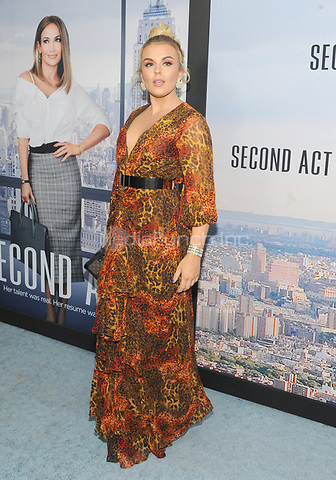 "NEW YORK, NY - DECEMBER 12: Tallia Storm attends the World Premiere for ""Second Act"" at Regal union Square on December 12, 2018 in New York City.  Credit: John Palmer/MediaPunch"
