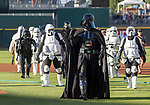 "A photograph taken during the Reno Aces ""Star Wars Night"" game at Greater Nevada Field in Reno on Saturday, June 17, 2017."