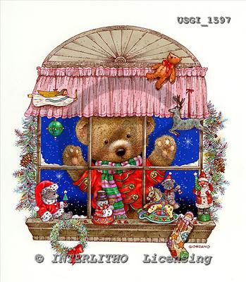 GIORDANO, CHRISTMAS ANIMALS, WEIHNACHTEN TIERE, NAVIDAD ANIMALES, Teddies, paintings+++++,USGI1597,#XA#