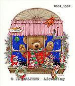 GIORDANO, CHRISTMAS ANIMALS, WEIHNACHTEN TIERE, NAVIDAD ANIMALES, Teddies, paintings+++++,USGI1597,#XA#
