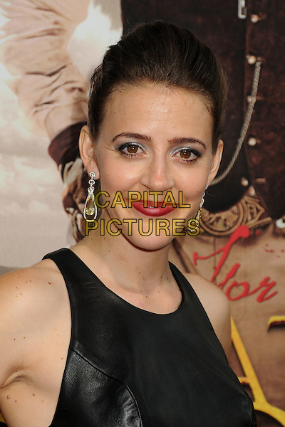 "Abby Miller.""For Greater Glory"" Los Angeles Premiere held at the AMPAS Samuel Goldwyn Theater, Beverly Hills, California, USA..May 31st, 2012.headshot portrait red lipstick black sleeveless leather .CAP/ADM/BP.©Byron Purvis/AdMedia/Capital Pictures."