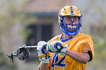 Los Angeles, CA 02-26-17 - Aaron  Ayers (UCSB #42) in action during the MCLA conference game between LMU and UC Santa Barbara.  Santa Barbara defeated LMU 15-0.