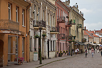 Kaunas old town near Neumunas and Neris rivers in Lithuania