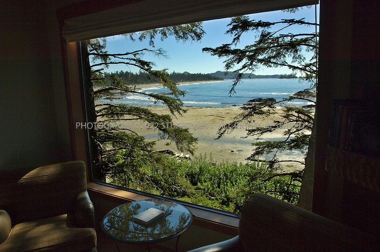 9/23/2006--Tofino, British Columbia, Canada..A view of Chesterman Beach from a room in the Wickaninnish Inn...Photograph By Stuart Isett.All photographs ©2006 Stuart Isett.All rights reserved.