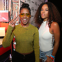 NEW ORLEANS, LOUISIANA - JULY 2, 2016 Dej Loaf & Serayah backstage at the Essence Festival at The Mercedes Benz Superdome, July 2, 2016 in New Orleans, LA. Photo Credit: Walik Goshorn / Media Punch
