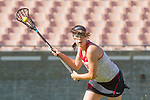 Los Angeles, CA 04/22/16 - unidentified Stanford player(s) in action during the NCAA Stanford-USC Division 1 women lacrosse game at the Los Angeles Memorial Coliseum.  USC defeated Stanford 10-9/