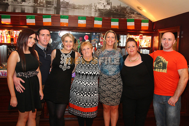 Marie Lynch (centre) birthday party in McHughs. Pictured with her family.<br /> Picture: Shane Maguire / www.newsfile.ie