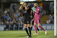 1st November 2019; Leichhardt Oval, Sydney, New South Wales, Australia; A League Football, Sydney Football Club versus Newcastle Jets; Jason Hoffman of Newcastle Jets misses an opportunity to score - Editorial Use