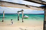 A fishing boat returns to shore at Hamelin Bay in the Leeuwin-Naturaliste National Park, Western Australia, AUSTRALIA.