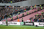Extra meshing and Police seperate West Ham's and Stoke's fans during the Premier League match at the London Stadium, London. Picture date November 5th, 2016 Pic David Klein/Sportimage