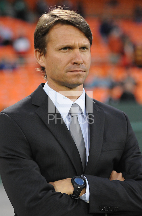 Montreal Impact head coach Jesse Marsch. D.C. United tied The Montreal Impact 1-1, at RFK Stadium, Wednesday April 18 , 2012.