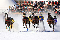 World exclusive Skikjöring in St. Moritz, Switzerland