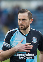 Paul Hayes of Wycombe Wanderers during the Sky Bet League 2 match between Wycombe Wanderers and Bristol Rovers at Adams Park, High Wycombe, England on 27 February 2016. Photo by Claudia Nako.