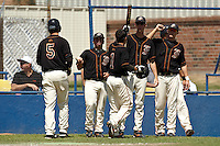 SAN ANTONIO, TX - APRIL 3, 2009: The University of Texas of the Permian Basin Falcons vs. the St. Mary's University Rattlers Baseball at V.J. Keefe Memorial Stadium. (Photo by Jeff Huehn)