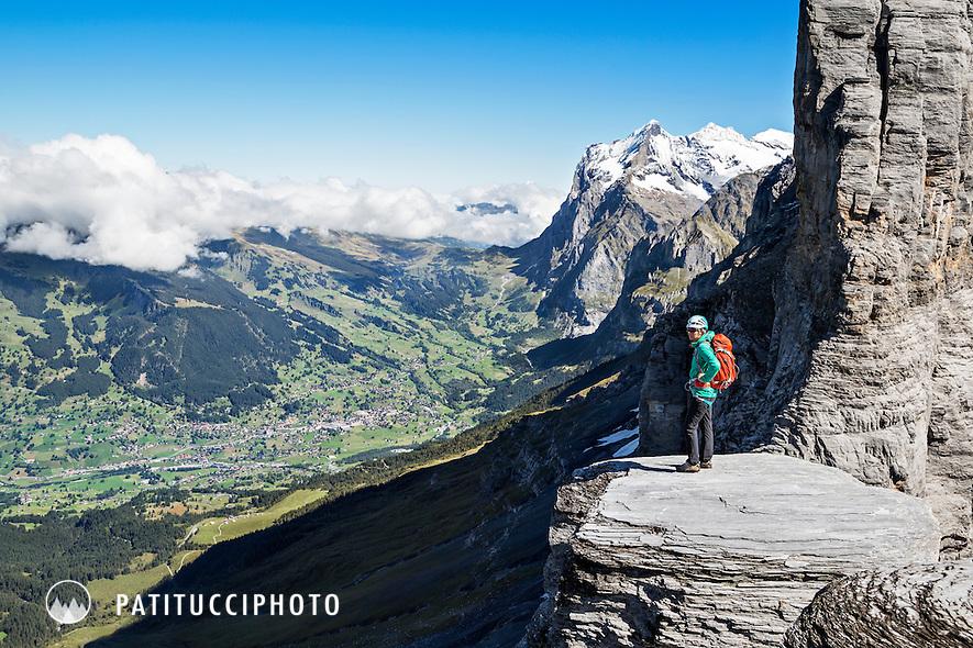 Klettersteig Grindelwald : Climbing the eiger rotstock klettersteig patitucci photo