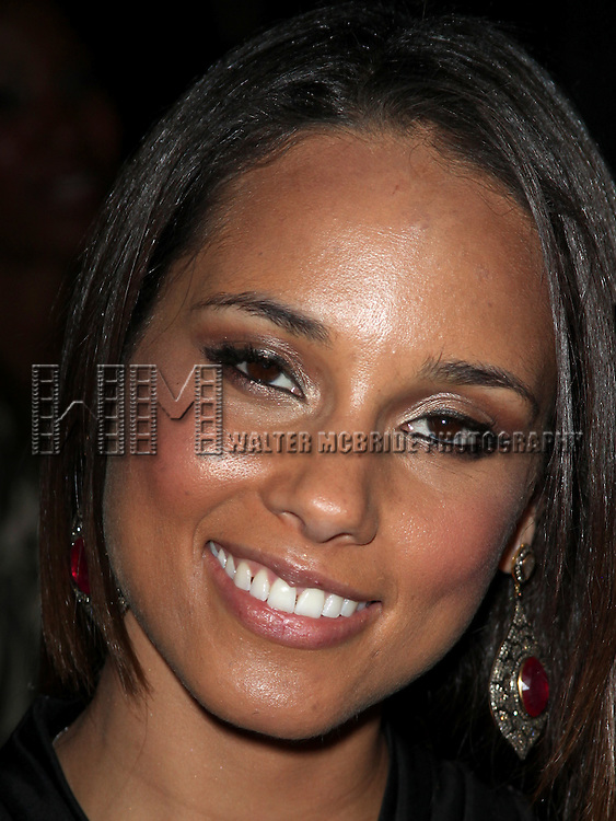 Alicia Keys.attending the Woodie King Jr's NFT New Federal Theatre 40th Reunion Gala Benefit Awards Presentation in New York City.
