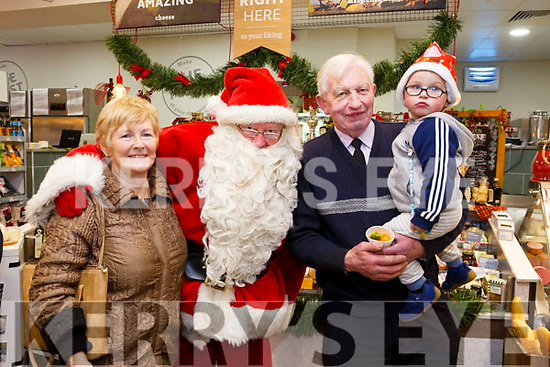 At the Garveys Super Value Christmas Food and Wine Fair on Thursday were Rita and John Rahilly with Kaelan Dunne.