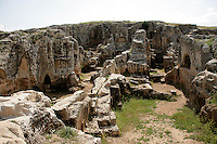 Rock-cut tombs of the ancient city of Perre near Adiyaman, Turkey