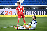 Jubel ueber das 0:1: Torschuetze Dani Olmo (Leipzig). Torwart Oliver Baumann (Hoffenheim) enttaeuscht. am Boden.<br /> <br /> Sport: Fussball: 1. Bundesliga: Saison 19/20: 31. Spieltag: TSG 1899 Hoffenheim - RB Leipzig, 12.06.2020<br /> <br /> Foto: Markus Gilliar/GES/POOL/PIX-Sportfotos