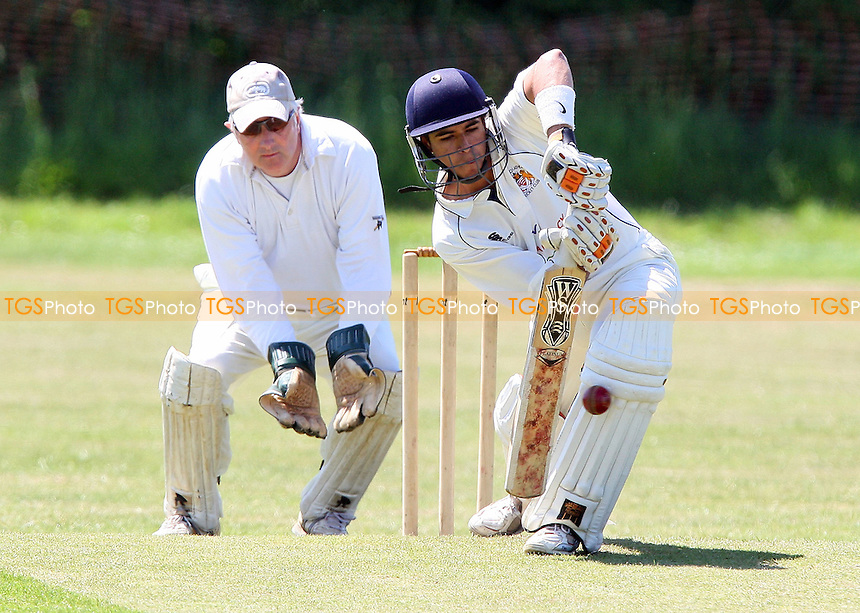 S Samaskera in batting action for Hornchurch Ath - Noak Hill Taverners CC vs Hornchurch Athletic CC 2nd XI - Lords Internatioanl Cricket League - 30/05/09 - MANDATORY CREDIT: Gavin Ellis/TGSPHOTO - Self billing applies where appropriate - 0845 094 6026 - contact@tgsphoto.co.uk - NO UNPAID USE.