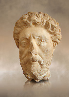 Roman sculpture of the Emperor Marcus Aurelius, excavated  from Carthage made circa 161-180 AD. The Bardo National Museum, Tunis, Inv No: C.965